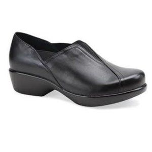 Dansko Arden Black Leather Clogs 37
